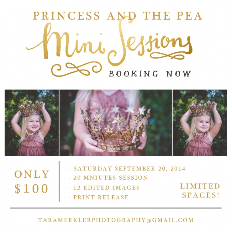 Princess and Pea Mini Announcement