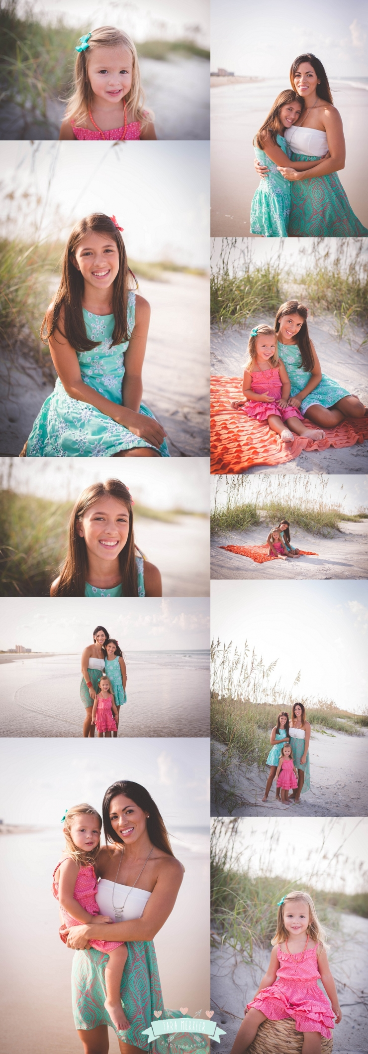 Stanek Family Beach  Session Tara Merkler Photography Orlando, Florida Children