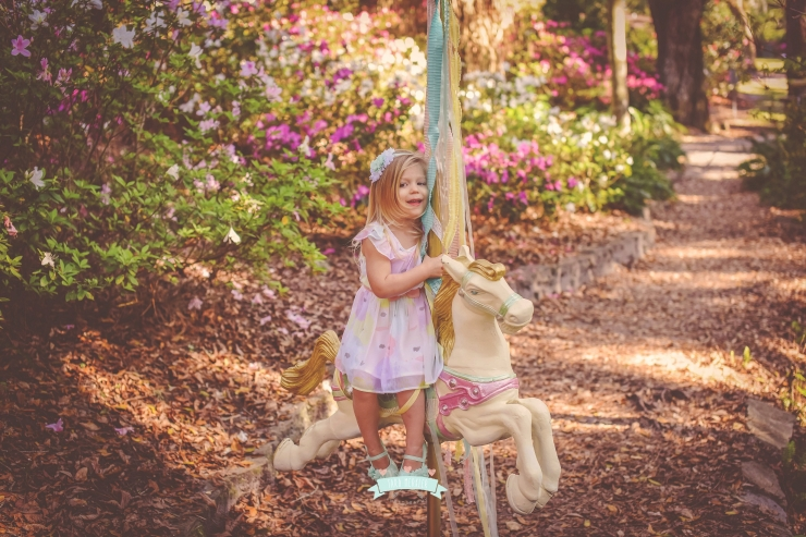 Carousel Horse Mini Session in Central Florida Children