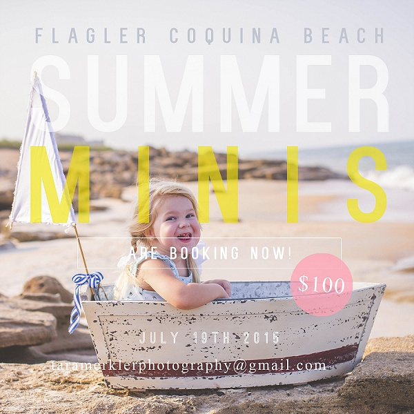 Flagler Beach Mini Sessions Tara Merkler Photography Orlando Florida Children