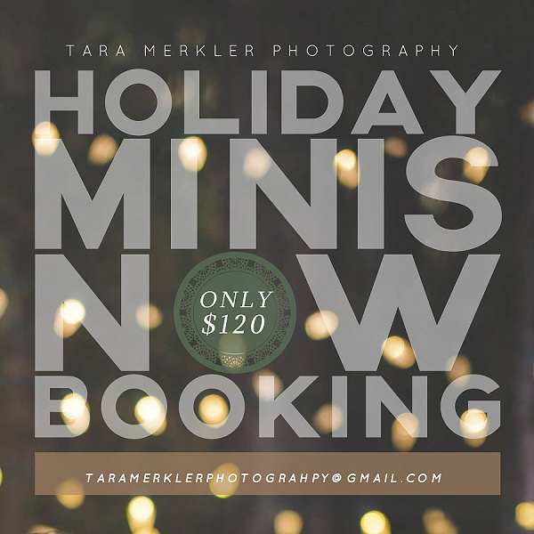 HOLIDAY CHRISTMAS MINI SESSION ANNOUNCEMENT 2015 by Tara Merkler Photography Lake Mary, Children